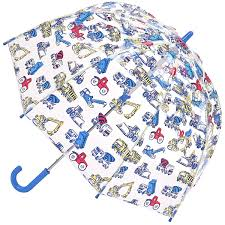 childrens see through clear dome umbrellas at brolliesgalore