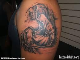 graveyard tattoos u2013 grim reaper angel on back body tattooshunter com