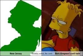 Bart Simpson Meme - new jersey totally looks like bart simpson s evil twin