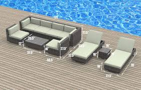 Amazon Com Patio Furniture Sets - amazon com urbanfurnishing 10 piece patio sofa sectional couch