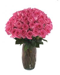 Free Vase 36 Long Stem Pink Roses With Free Vase