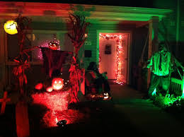 scary halloween decorations for party cement patio