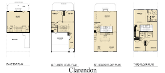 Clarendon Homes Floor Plans Station View Townhomes