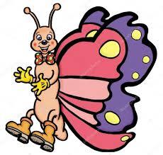 cartoon butterfly u2014 stock photo marcovarro 8088615