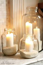 mason jar home decor ideas adorable candle home decor about home design ideas with candle