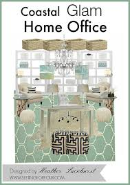 Home Decor Design Board Coastal Glam Home Office Mood Board Design Setting For Four
