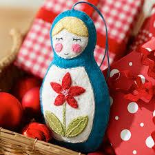 make a felt russian nesting doll ornament from better homes gardens