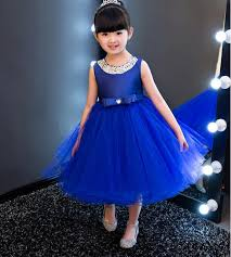 royal blue dress vestidos royal blue kids party wedding flower girl dress
