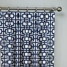 Pattern Drapes Curtains Navy Blue White Modern Sqares Gigi Geometric Trellis Curtains