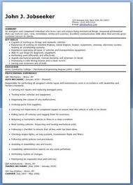 Sample Resume For Auto Mechanic by Automotive Mechanic Resume Example Resume Examples Job Resume