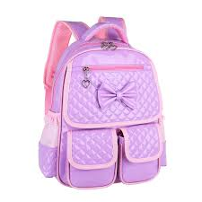book bags with bows embossed lavender purple patent leather bow school