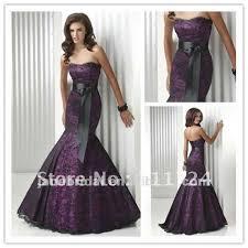 plum wedding dresses plum satin with black lace and black belt wedding dress in wedding
