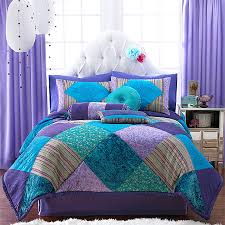 teal and purple bed in a bag kids teen duvet bedding jewel