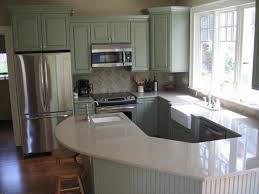 Paint Kitchen Cabinets Gray Green Painted Kitchen Cabinets
