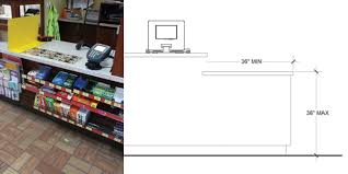 Ada Compliant Reception Desk Non Compliant Sales Counters Due To Height And Width Issues