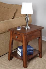chairside table with charging station brilliant end table charging station cepagolf end table with