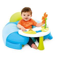 table d activité avec siege rotatif acheter smoby siège confortable avec table d activité cotoons bleu