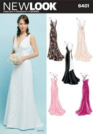 wedding dress patterns to sew new look sewing pattern 6401 misses special occasion