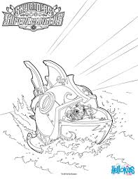 reef ripper coloring skylanders superchargers