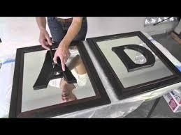 monogram letters diy divas mirrored frames w monogram letters