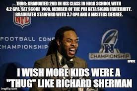 Sherman Meme - more richard sherman meme living in anglo america