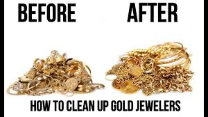 how to clean gold jewelry at home for 1 minute