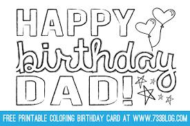 printable birthday card decorations dad grandpa printable coloring birthday cards free printable