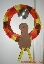footprint turkey wreaths an easy thanksgiving craft and keepsake