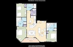 3 Bedroom Floor Plan by Club Wyndham Wyndham Ocean Boulevard