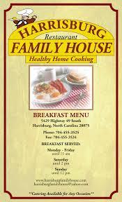 menu harrisburg family house restaurant