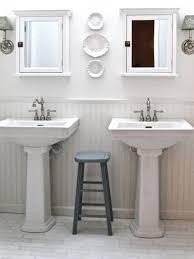 beautiful design ideas bathroom pedestal sink with backsplash