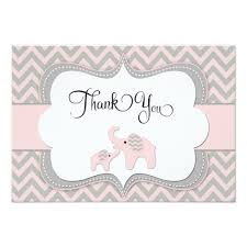 thank you baby shower pink elephant baby shower thank you card zazzle
