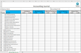 Free Accounting Excel Templates Free Accounting Journal Excel Template Templates At