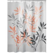 interdesign leaves shower curtain gray and coral 52 liked