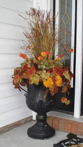 urn flowers fall decorating urn flower and porch