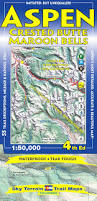 Aspen Map Aspen Crested Butte U0026 Maroon Bells Trail Map 4th Edition Kent