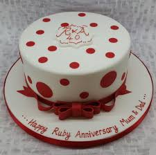 ruby wedding cakes anniversary cakes