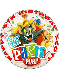 tom and jerry cake topper 7 5 tom and jerry edible icing birthday cake topper co uk