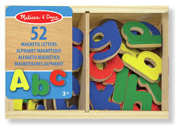 melissa and doug magnetic wooden letters toy