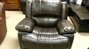 Leather Rocker Recliner F7090 Dark Brown Bonded Leather Rocker Recliner Youtube