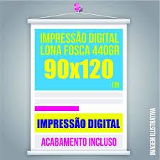Top BANNER 90x120 Lona 440grs 4 Cores / Impressão Digital Madeira  &PA62