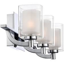 Chrome Light Bathroom Fixture Crystal Wall Sconce Vanity Nuvo Soho 4 Light Bathroom Fixture