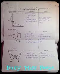 Pythagorean Theorem Triples Worksheet Busy Miss Beebe Geometry Interactive Notebook The Eighth Unit