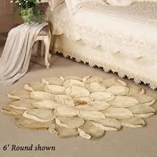 6 Foot Round Rugs by Melanie Magnolia Round Flower Rug