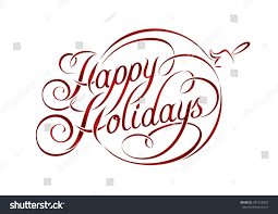 happy holidays lettering stock vector