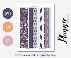 washi tape designs free printable washi tape planner addiction