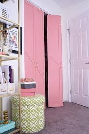 How To Build Bi Fold Closet Doors Diy Coral Glam Bi Fold Closet Door Makeover Tutorial