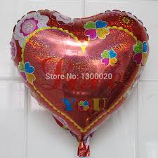 valentines day balloons wholesale wholesale 50pcs lot 18inch heart s day balloons i