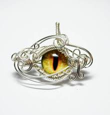 dragon glass pendant necklace images Wire wrap yellow dragon eye pendant by create a pendant jpg