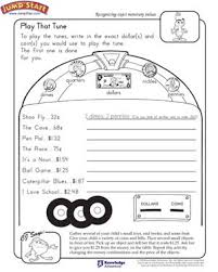 play that tune u2013 counting money worksheets for kids u2013 jumpstart